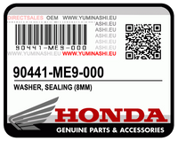 GENUINE OEM HONDA WASHER, SEALING, 8MM / RONDELLE ETANCHEITE 8MM (90441-ME9-000)