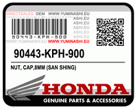 PART NUMBER 90443-KPH-900 HAS BEEN SUPERSEDED BY PART NUMBER 90443-KTM-970
