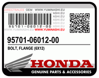 GENUINE HONDA BOLT, FLANGE, 6x12  / BOULON DE BRIDE, 6X12 (95701-06012-00)
