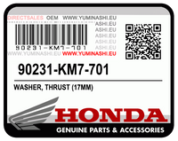 ※ PART NUMBER 90231-KM7-700 HAS BEEN SUPERSEDED BY PART NUMBER 90231-KM7-701.