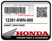GENUINE HONDA GASKET, HEAD COVER (PCX125 1ST GEN) (12391-KWN-900)