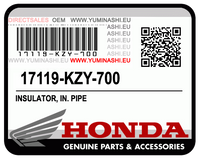 OEM INSULATOR, IN. PIPE 17119-KZY-700 FOR HONDA PCX150.  OEM ISOLANT, TUYAU D'ADMISSION, 17119-KZY-700 POUR HONDA PCX150 V1