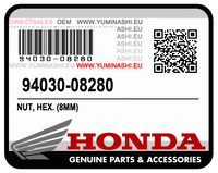 OEM HONDA NUT, HEX. (8MM), 94030-08280 FOR HONDA PCX150.  OEM ECROU HEX (8MM), 94030-08280 POUR HONDA PCX150 V1