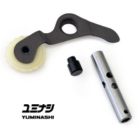 Oil pressure optimized tensioner push rod. Button and wheel made from resistant high quality material.