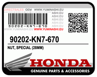 NUT, SPECIAL (28MM) ECROU SPECIAL (PCX150 (2012-2014)) (90202-KN7-670)