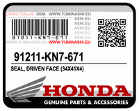 SEAL, DRIVEN FACE / JOIN DE FACE MENEE (34X41X4) (91211-KN7-671)