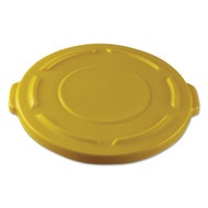 Rubbermaid Commercial Round Brute Lid - RCP261960YEL