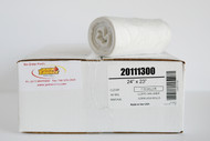 """.6 Mil 7-10 Gal LLDPE Can Liners, 24"""" x 23"""", Clear - Case of 500"""
