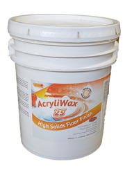 AcryliWax 25 High-Gloss Commercial Floor Finish, 5 Gallon Pail