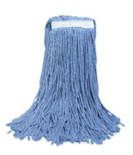 ABCO CM-24024 Blue Cotton Cut End Mop 24oz Blue Blended w/White Mop Tape