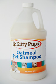 KittyPups Natural Oatmeal Pet Shampoo - Case of 4 Gallons