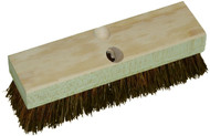 "10"" Deck Brush and Wood Block, Case of 12"