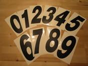 Black Slanted Stick on Numbers