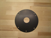 Solid Flywheel Cover Black Aluminum