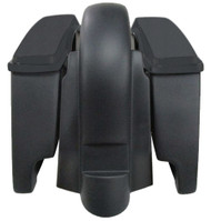 "Harley Stretched Extended 6"" Saddlebags & Fender WITHOUT Cutouts"