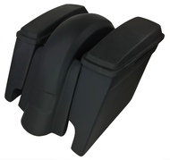 """4"""" Extended Saddlebags and Fender With Lids Harley Davidson 1997 to 2008 Without Cutouts"""