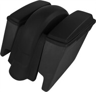 "'09 to '13 - 4"" Extended Saddlebags / Lids & Fender – WITHOUT Fender Cutouts"