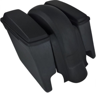 "'09 to '13 - 4"" Extended Saddlebags / Lids & Fender – Both WITH Cutouts 204"