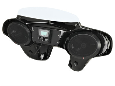Yamaha Raider Batwing Fairing with Speakers and Stereo System