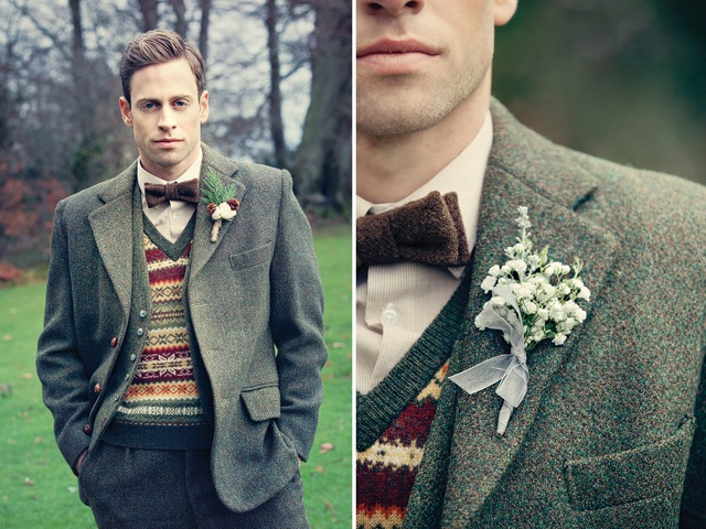 3 piece tweed suit