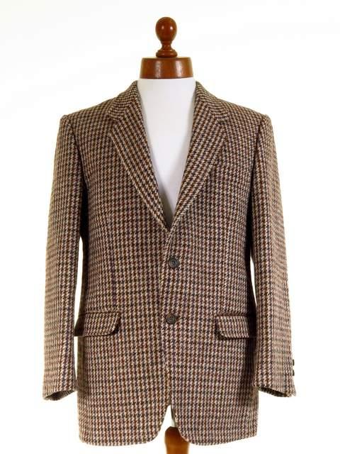Dogtooth tweed jacket
