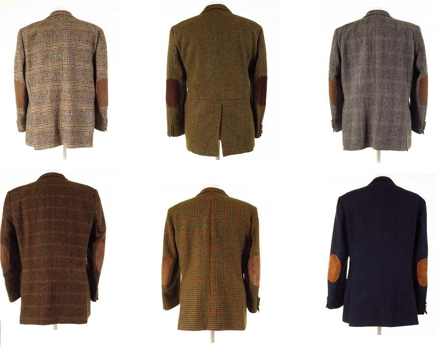 Harris Tweed Jacket With Elbow Patches Tweedmans