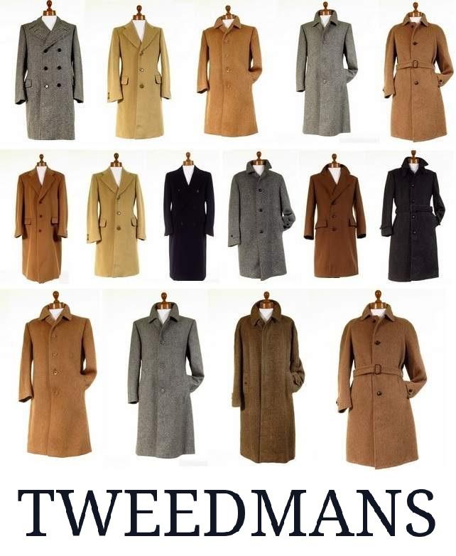 Mens Tweed Coats