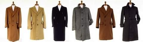 Mens Wool Tweed Overcoats