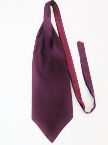 Plum wedding cravat