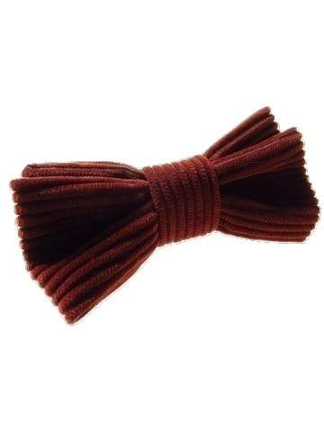 Brown corduroy bow tie