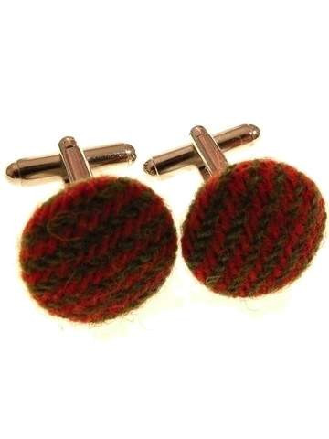 Mens ttweed cufflinks