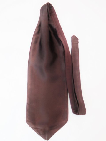 Brown wedding cravat tie
