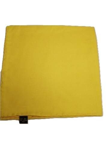 Bright yellow silk handkerchief