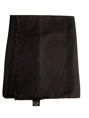 Mens black silk handkerchief