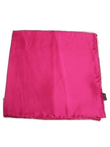 Cerise pink silk handkerchief