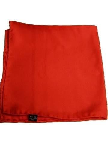 Mens red silk handkerchief