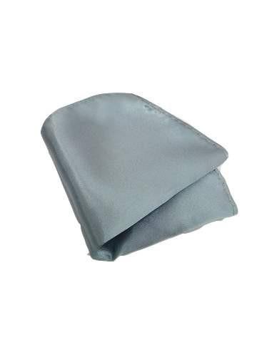 Silver grey pocket square