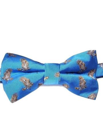 Bird themed silk bow tie