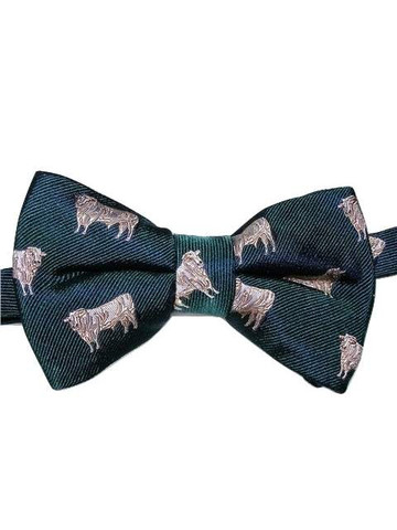 Cow themed bow tie