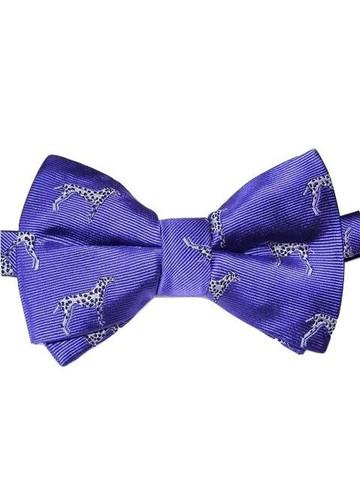 Mens dog themed silk bow tie