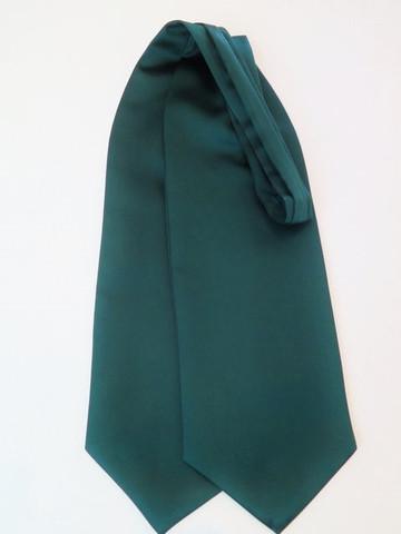 Dark green wedding cravat
