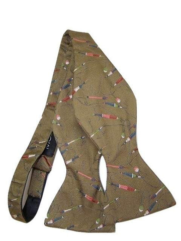 Horse racing themed bow tie