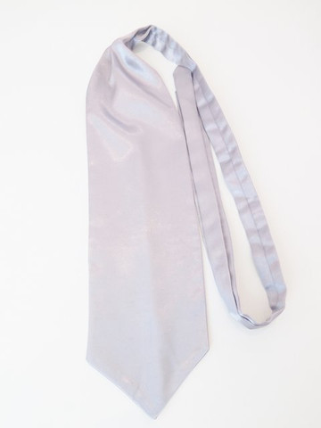 Silver wedding cravat