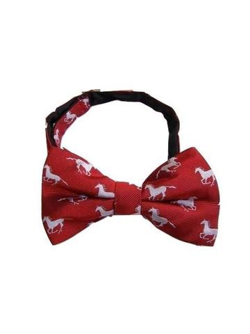 Horse themed silk bow tie
