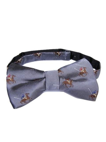 Polo player themed bow tie