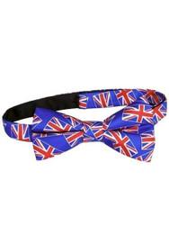 Union Jack silk bow tie NEW