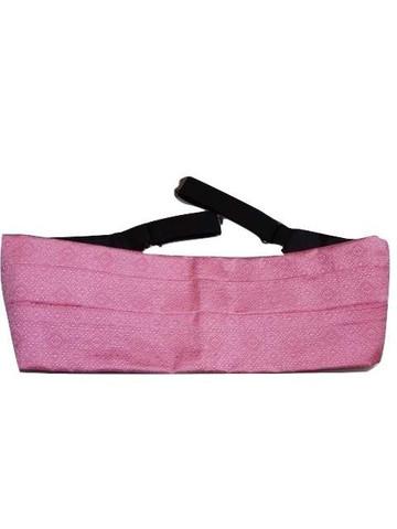 Pink silk cummerbund
