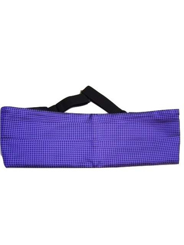 Mens purple silk cummerbund