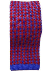 Silk knit tie houndstooth
