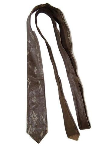 Men's leather tie